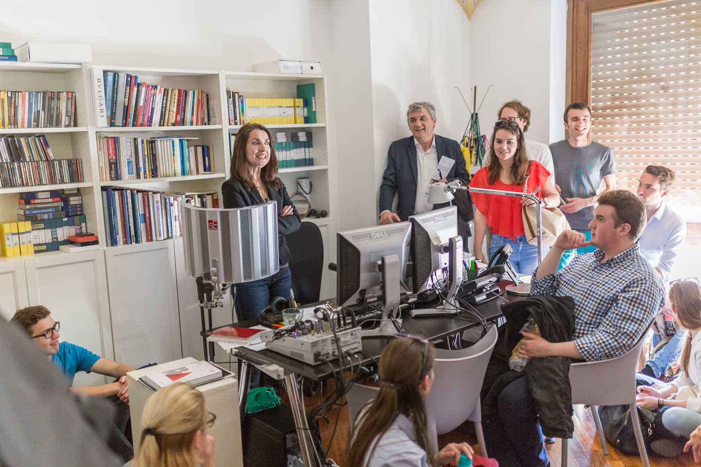 Medien-Lehrgang Studienreise Rom Mathilde Schwabeneder ORF Korrespondentin Studenten Gruppe