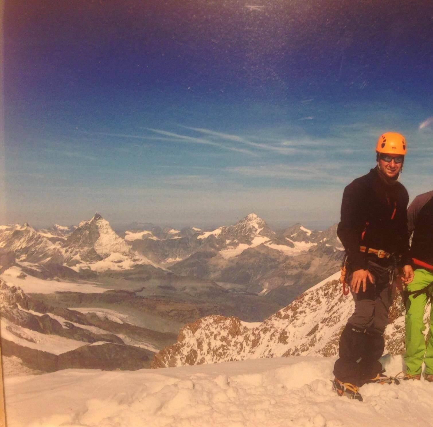 Johannes Eibensteiner Zumsteinspitze Matterhorn Hochtour Bergsteigen Schnee Gletscher