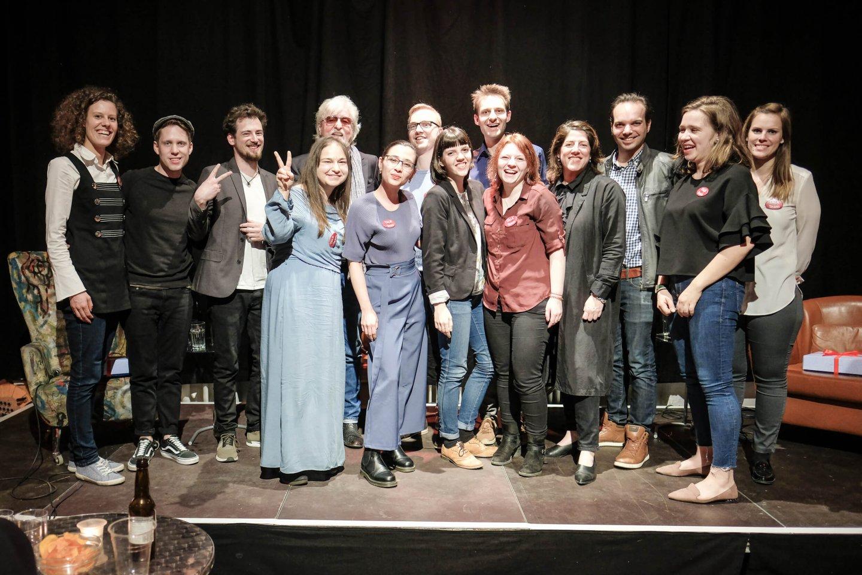 gruppenfoto podium studenten reinhold bilgeri tanja wehsely emmanuel fleckenstein talk wuk figlhaus wien akademie für dialog und evangelisation