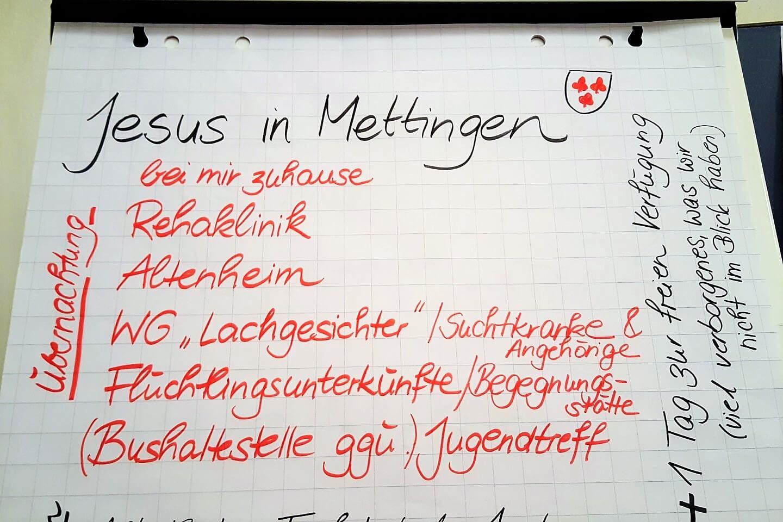 Mettingen Mission Possible on Tour Glauben Faszination wecken Christentum Jesusspiel Jesus in Wohin Poster Figlhaus Wien Akademie für Dialog und Evangelisation
