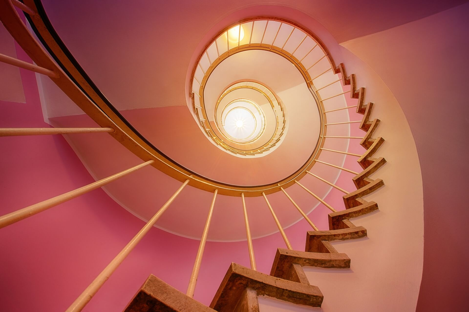 Stairs leading to the light